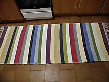 Úžitkový textil - Tkaný koberec pestrofarebný 12 - 11651545_