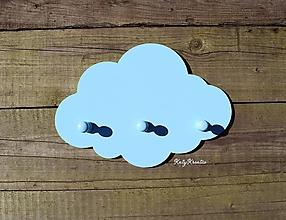 Detské doplnky - vešiak obláčik modrý - 11652995_
