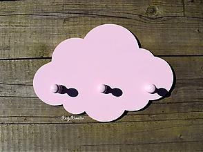 Detské doplnky - vešiak obláčik ružový - 11653020_
