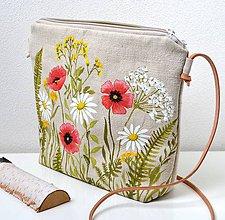Iné tašky - Plátená crossbody-ručne maľovaná - 11651918_