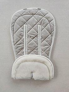 Textil - VLNIENKA Podložka do kočíka CYBEX Priam Lux proti poteniu 100 % merino top SAND piesková - 11654933_
