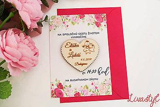 Papiernictvo - Svadobné oznámenie s darčekom - 11653436_