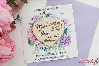 Papiernictvo - Svadobné oznámenie s darčekom - 11653540_