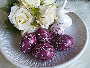 Dekorácie - Sada fialových madeirových kraslíc - 11654086_