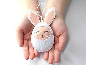 Dekorácie - Vajíčko (zajačik) - 11654799_