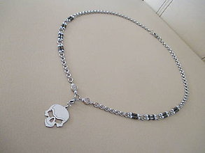 Šperky - Náhrdelník - LEBKA - unisex - chirurgická oceľ - 11652328_