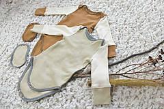 Detské oblečenie - Rastúce body s dlhým rukávom (biobavlna) - 11654068_