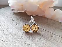 Náušnice - Zlate akrylove - 11655134_
