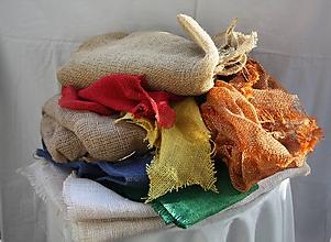 Textil - Materiál. Jutovina rôznych farieb. - 11654745_