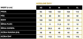 Šaty - KOŠEĽOVÉ ŠATY - BLACK&WHITE (XL) - 11652718_