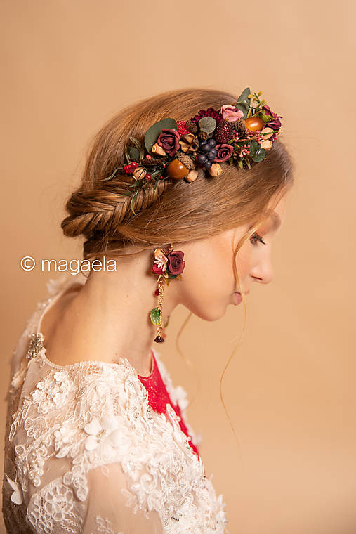 """Kvetinový hrebienok """"srdce lesnej víly"""""""