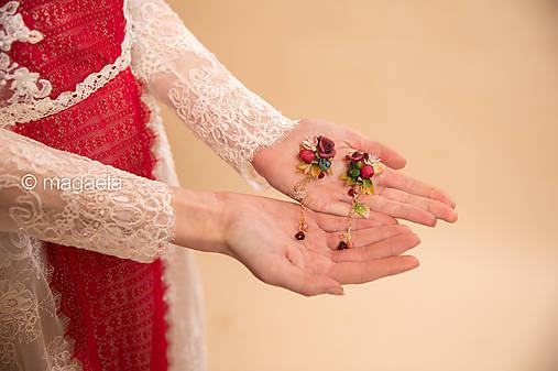 """Kvetinové náušnice """"srdce lesnej víly"""""""