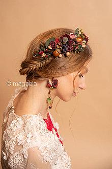"""Ozdoby do vlasov - Kvetinový hrebienok """"srdce lesnej víly"""" - 11653554_"""