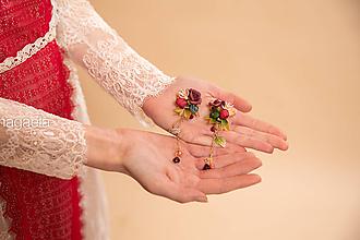 """Náušnice - Kvetinové náušnice """"srdce lesnej víly"""" - 11653610_"""