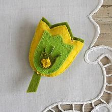 Odznaky/Brošne - Tulipán - 11654560_