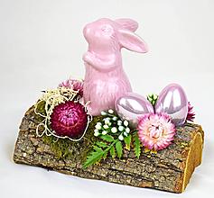 Dekorácie - Zajko ružový - 11652976_