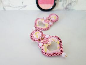 Náušnice - Náušnice Romantic so zlatými lístkami - 11654487_