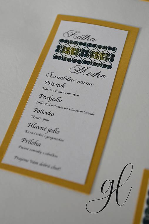 Svadobné tlačoviny folklórne, Detva (Svadobné menu)