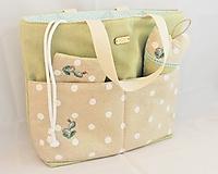 Iné tašky - Sada kabelotaška, srdiečko a taštička vyšívka KAKTUS - 11654386_