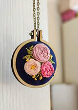 """Náhrdelníky - Vyšívaný náhrdelník """"Čaro kvetín"""" - 11652479_"""