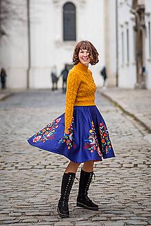 Sukne - Sukňa Eva s Vajnorským ornamentom (Bratislava) - 11652820_