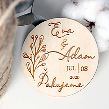 Darčeky pre svadobčanov - Svadobné magnetky venček - 11654995_