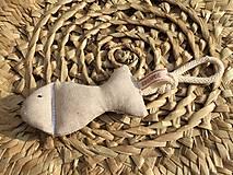 Hračky - rybka z režnej bavlny... - 11655226_