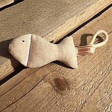 Hračky - rybka z režnej bavlny... - 11655228_