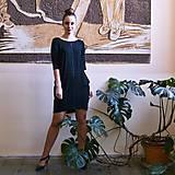 Šaty - Contrasting line (black) 3/4 rukáv - 11652016_