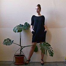 Šaty - Contrasting line (black) 3/4 rukáv - 11652029_