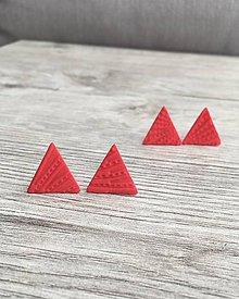 Náušnice - Napichovačky Červený trojuholník - 11655771_