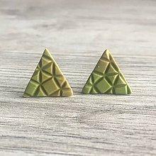 Náušnice - Napichovačky Trojuholníky prírodné - 11655803_