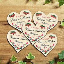 Darčeky pre svadobčanov - Svadobná magnetka - 11657713_