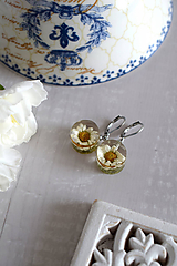 Náušnice - Náušnice Chryzantéma kruhy (2849 A CHO) - 11656923_