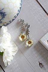 Náušnice - Náušnice Chryzantéma konáriky (2849 B CHO) - 11656951_