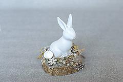 Dekorácie - Dekorácia so zajkom - zľava! - 11655558_
