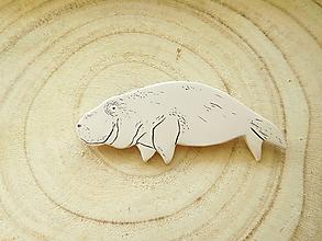 Brošne - Dugong brošňa - 11659186_