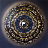 Obrazy - SPIRITUALITA (gold-black) 60 x 60 - 11657044_