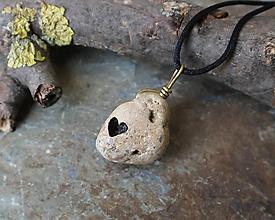 Náhrdelníky - Ukáž mi srdce - kamenný prívesok - 11656324_