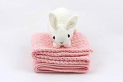 Textil - Ružová detská deka FINE - 11658203_