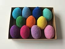 Dekorácie - Háčkované veľkonočné vajíčka pestré (100%bavlna) - 11656403_