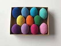 Dekorácie - Háčkované veľkonočné vajíčka pestré (100%bavlna) - 11656414_