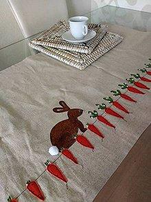 Úžitkový textil - Ľanový stredový obrus - 11656642_