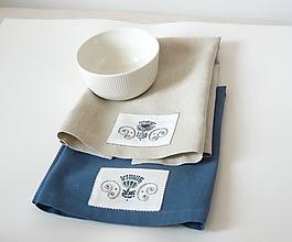 Úžitkový textil - Ľanové obrúsky s výšivkou - 11658314_