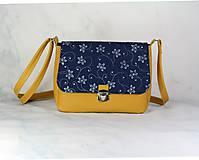 Kabelky - Modrotlačová kabelka Eliška žltá 2 - 11657865_