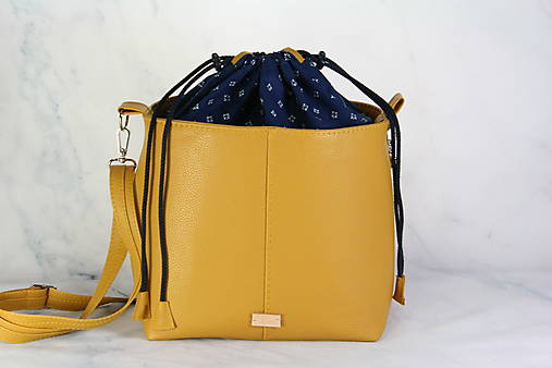 Modrotlačová kabelka Donna žltá