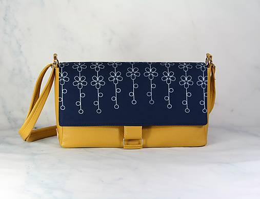 modrotlačová kabelka Tanya žltá