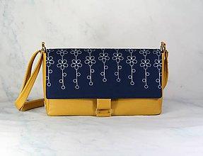 Kabelky - modrotlačová kabelka Tanya žltá - 11657835_