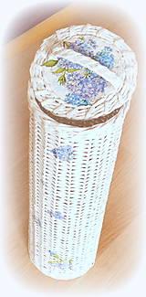 Košíky - Košík zásobník - na 5 ks  hortenzia - 11658211_