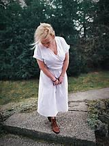 Šaty - Ľanové zavinovacie šaty - 11656424_